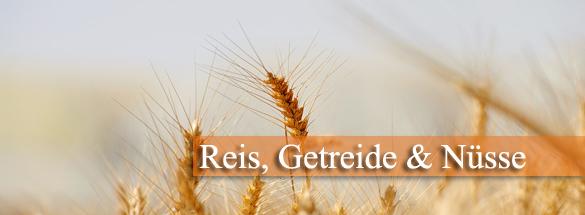 Getreide, Reis und Nusskerne